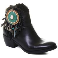 Topánky Ženy Čižmičky Rebecca White T0605 |Rebecca White| D??msk?? ?ern?? ko?en?? kotn??kov?? boty s bloko