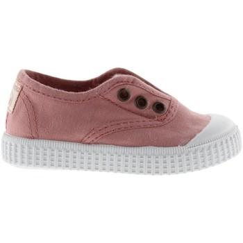 Topánky Dievčatá Tenisová obuv Victoria Baskets fille  1915 anglaise toile lavée rose foncé