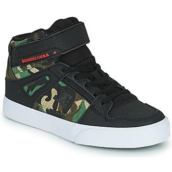 Topánky Chlapci Členkové tenisky DC Shoes PURE HIGH-TOP EV Čierna / Maskáčový vzor