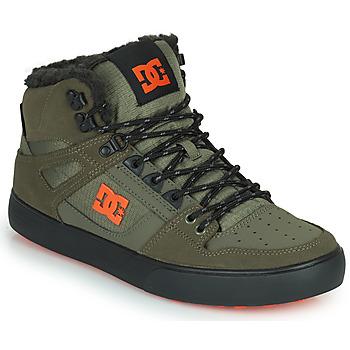 Topánky Muži Členkové tenisky DC Shoes PURE HIGH-TOP WC WNT Kaki / Čierna