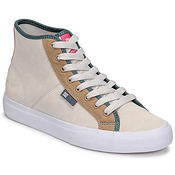 Topánky Ženy Členkové tenisky DC Shoes MANUAL HI SE Béžová
