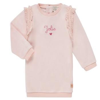 Oblečenie Dievčatá Krátke šaty Carrément Beau ABRICOT Ružová