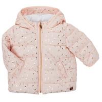 Oblečenie Dievčatá Vyteplené bundy Carrément Beau ACAJOU Ružová