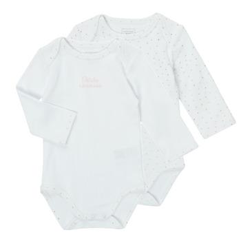 Oblečenie Dievčatá Pyžamá a nočné košele Carrément Beau ANTHRACITE Biela