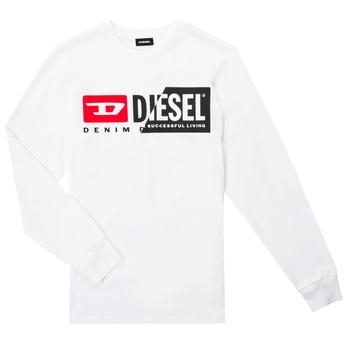 Oblečenie Deti Tričká s dlhým rukávom Diesel TDIEGOCUTY ML Biela