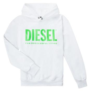 Oblečenie Deti Mikiny Diesel SDIVISION LOGOX OVER Biela