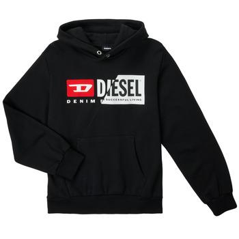 Oblečenie Deti Mikiny Diesel SGIRKHOODCUTYX OVER Čierna