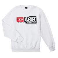 Oblečenie Deti Mikiny Diesel SGIRKCUTY OVER Biela
