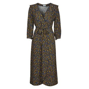 Oblečenie Ženy Dlhé šaty Vila VIZUGI Čierna / Žltá / Modrá