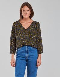 Oblečenie Ženy Blúzky Vila VIZUGI Čierna / Žltá / Modrá