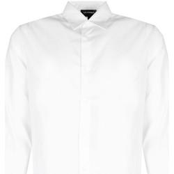 Oblečenie Muži Košele s dlhým rukávom Les Hommes  Biela