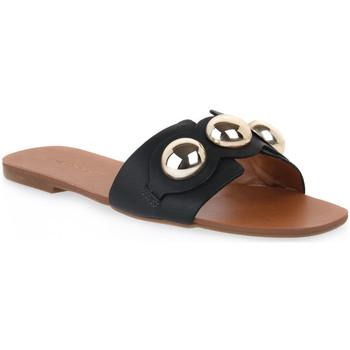 Topánky Ženy Šľapky Miss Unique UNIQUE   CALF PRETO Nero