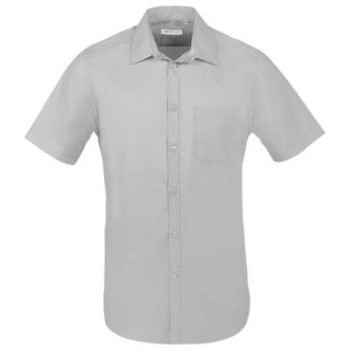 Oblečenie Muži Košele s krátkym rukávom Sols BRISTOL FIT Gris Perla Gris