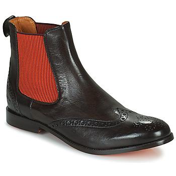 Topánky Ženy Polokozačky Melvin & Hamilton AMELIE 5 Hnedá / Oranžová