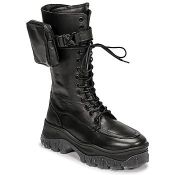 Topánky Ženy Polokozačky Bronx JAXSTAR HIGH Čierna