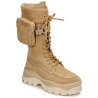 Topánky Ženy Polokozačky Bronx JAXSTAR HIGH Béžová