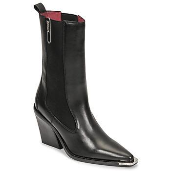 Topánky Ženy Čižmy do mesta Bronx NEW KOLE Čierna