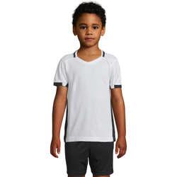 Oblečenie Dievčatá Tričká s krátkym rukávom Sols CLASSICO KIDS Blanco Negro Blanco