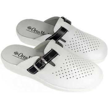 Topánky Muži Nazuvky Mjartan Pánske kožené biele papuče  DEREK biela