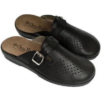 Topánky Muži Nazuvky Mjartan Pánske kožené čierme papuče  DEREK čierna