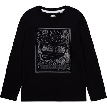 Oblečenie Chlapci Tričká s dlhým rukávom Timberland BAGIRI Čierna