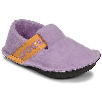 Topánky Dievčatá Papuče Crocs CLASSIC SLIPPER K Fialová  / Žltá
