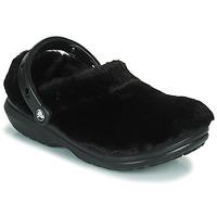 Topánky Ženy Nazuvky Crocs CLASSIC FUR SURE Čierna
