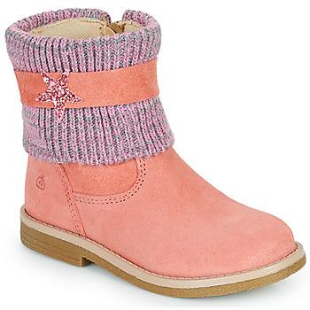 Topánky Dievčatá Polokozačky Citrouille et Compagnie PASTEK Ružová
