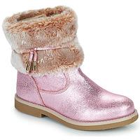 Topánky Dievčatá Polokozačky Citrouille et Compagnie PAKRETTE Ružová / Iris