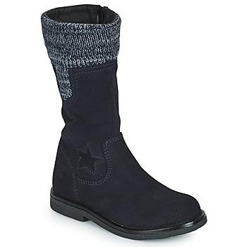 Topánky Dievčatá Čižmy do mesta Citrouille et Compagnie PRARA Námornícka modrá