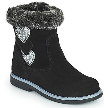 Topánky Dievčatá Čižmy do mesta Citrouille et Compagnie PARAVA Čierna