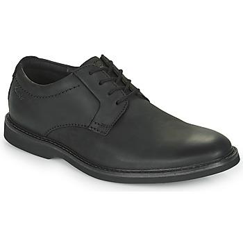 Topánky Muži Derbie Clarks ATTICUS LTLACE Čierna