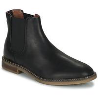 Topánky Muži Polokozačky Clarks JAXEN CHELSEA Čierna