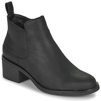 Topánky Ženy Čižmičky Clarks MEMI ZIP Čierna