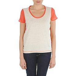 Oblečenie Ženy Tričká s krátkym rukávom Eleven Paris EDMEE Béžová / Oranžová
