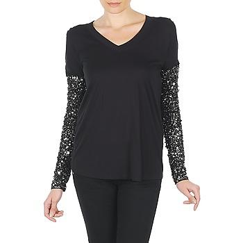 Oblečenie Ženy Tričká s dlhým rukávom Manoush TSHIRT ML INDIAN BASIC Čierna