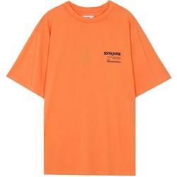 Oblečenie Muži Tričká s krátkym rukávom Sixth June T-shirt  barcode orange