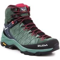 Topánky Ženy Turistická obuv Salewa WS Alp Trainer 2 Mid GTX 61383-5085 olive green