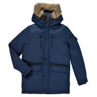 Oblečenie Chlapci Parky Jack & Jones JJEGLOBE PARKA Námornícka modrá