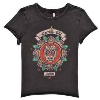 Oblečenie Dievčatá Tričká s krátkym rukávom Only KONLUCY Čierna