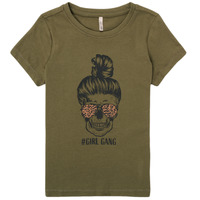 Oblečenie Dievčatá Tričká s krátkym rukávom Only KONKITA Kaki