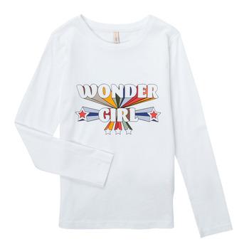 Oblečenie Dievčatá Tričká s dlhým rukávom Only KONTINNA Biela