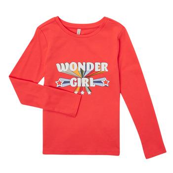 Oblečenie Dievčatá Tričká s dlhým rukávom Only KONTINNA Ružová