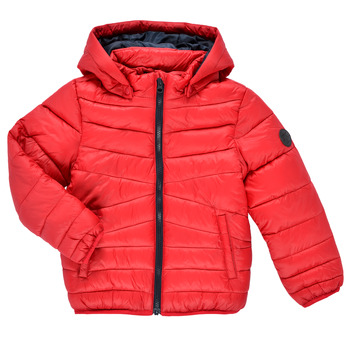 Oblečenie Chlapci Vyteplené bundy Name it NMMMOBI JACKET Červená