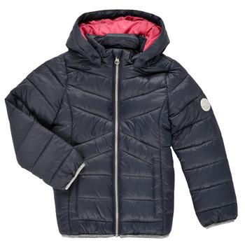 Oblečenie Dievčatá Vyteplené bundy Name it NMFMOBI JACKET Námornícka modrá