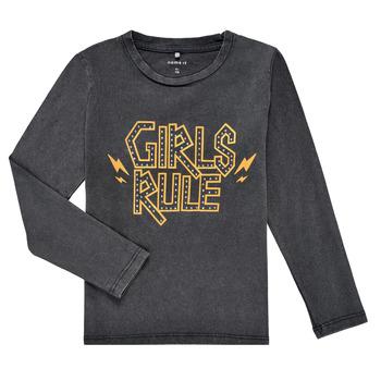 Oblečenie Dievčatá Tričká s dlhým rukávom Name it NKFNEBEL LS TOP Čierna