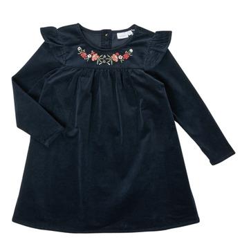Oblečenie Dievčatá Krátke šaty Name it NMFNISRINE LS DRESS Námornícka modrá
