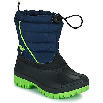 Topánky Chlapci Snehule  Kangaroos K-BEN Modrá / Zelená
