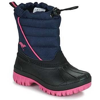 Topánky Dievčatá Snehule  Kangaroos K-BEN Modrá / Ružová