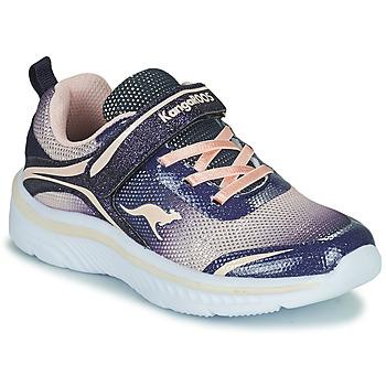 Topánky Dievčatá Nízke tenisky Kangaroos K-MAID GLEAM EV Modrá / Strieborná